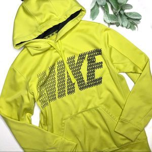 NIKE | sz S yellow therma fit hoodie